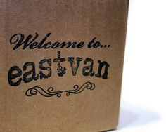 Welcome to Eastvan - enjoy your stay. #stamp #packaging #design #graphic #crafted #eastvan #hand #typography