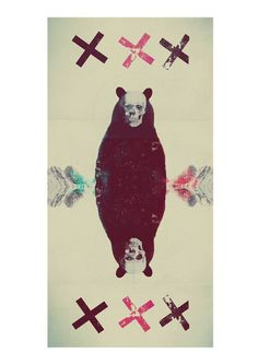 Weird collection on Behance #duplicated #crosses #bear #skull #collage