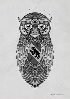 The Owl. A tattoo design for my brother #tattoo #nicholas #owl #christowitz