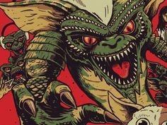Dribbble - Gremlins WIP by derek deal #illustration #il