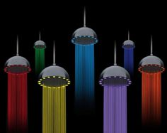 Electricity and color obtained by using shower - Dynamo Rainbow - www.homeworlddesign. com (6) (Custom) #ideas #design #inspiration