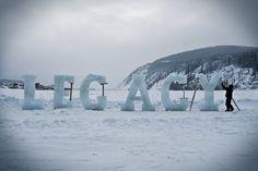 Legacy : Nicole Dextras #installation #dextras #art #ice #nicole #typography