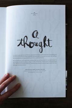Linda & Harriett: Wayfare Magazine #hand #typography
