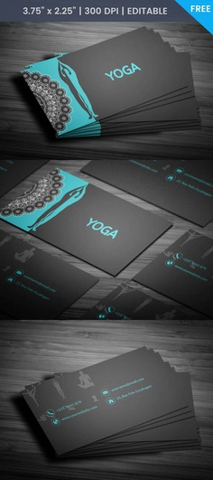Free Yoga Teacher Business Card Template