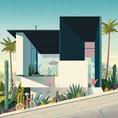 CALIFORNIAN-MODERNISM illustration