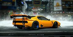 ArtStation - Ferrari 365 GT4, Khyzyl Saleem #ferrari #3d #gt4 #365