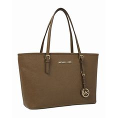 Tan Michael Kors Jet Set Saffiano iPad Travel Tote #shoes