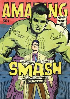 All-New Superpowered Post-Punk Marvels by Butcher Billy on Behance #retro #books #smiths #the #comic #morrissey #illustration #vintage #superheroes #marvel #comics