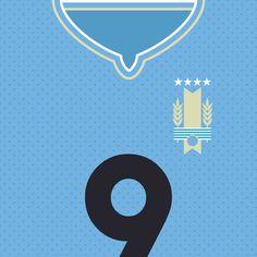 Uruguay La Celeste #flat #swiss #uruguay #design #world #shirt #clean #logo #cup