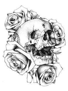 Zoom Photo #tattoo #vintage #roses #skull