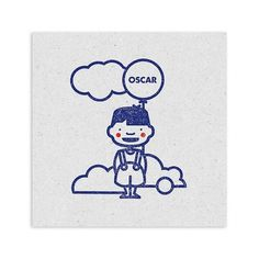 David Boon / Pinterest #stamp #card #illustration #kids #baby