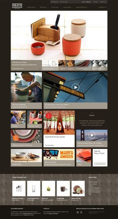 Web Design / Heath Ceramics Web Site #website