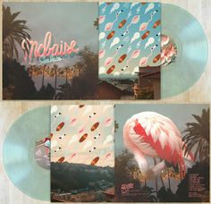 Heres a mockup of the record Ive done for mcbaise, this went to the vinyl press yesterday and I guess well see in 6 weeks if it looks the #flamingo #pink #print #cover #music #cd
