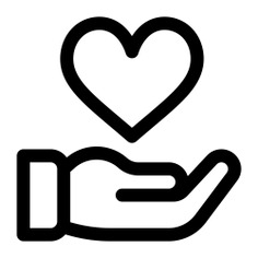 See more icon inspiration related to heart, hand, love, ui, loyalty, donation, charity, Solidarity, hand gesture, love and romance, hands and gestures, miscellaneous and gestures on Flaticon.