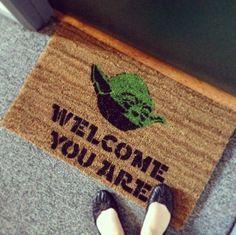 Star Wars Yoda Doormat #tech #flow #gadget #gift #ideas #cool