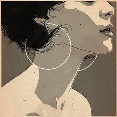tumblr_lz1iokHIRB1qz9v0to2_1280.jpg (JPEG Image, 600×600 pixels) #woodson #woman #mute #earrings #circles #matthew
