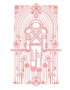 Mingo Lamberti, by Radio #graphic design #design #illustration #creative #red #astronaut #inspiration