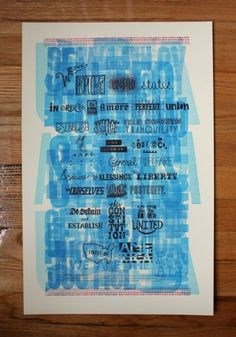 Amanda Buck We the People #america #letterpress #poster