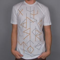 Paper Root Clothing — The Runic Ruins Tee - White #illustration #tee #typography