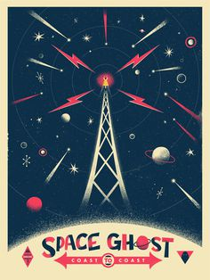 SPACE GHOST - Christopher Monro DeLorenzo #illustration #color