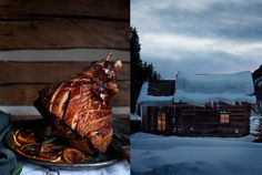 Isager BA_1 #red #house #dinner #turkey #snow #meat #photography #brown #cabin #blue #winter