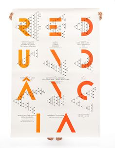 Redundância on Behance #type #poster #pattern #gradient