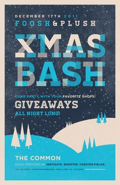 XMAS BASH #retro #christmas #poster #xmas #type #layout