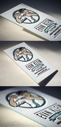 Painted Letterpress Business Card