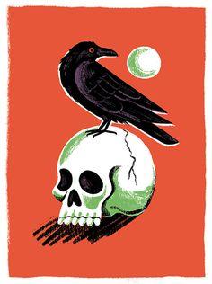 #skull #raven