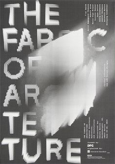THE FABRIC OF ARCHITECTURE. DIGITAL STRUCTURES, OPERATIONS, AND INSTITUTIONS  #poster #processing #cdlx #pattern #architecture #grid #black