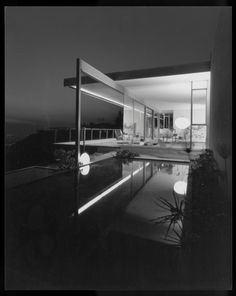 Neutra's Chuey House in Hollywood Hills. The Chuey House was photographed by Julius Shulman in 1960.