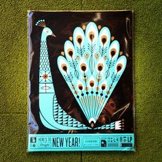 Lap Partners card (photo Brad Surcey) #print #illustration #card #new year #peacock #lab partners #lp #sf