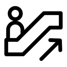 See more icon inspiration related to escalator, stairs, stair, up, miscellaneous, escalators, basic app, symbol, signs and sign on Flaticon.