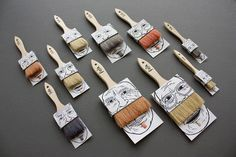 Proyecto del canadiense Simon Laliberté, pack para brochas Poilus #packaging #moustache #brush