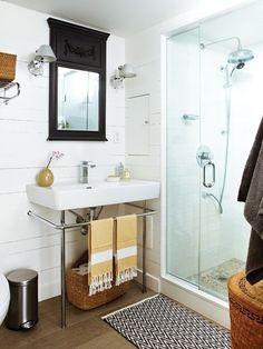 Rustic Modern BAthroom #rustic #bathroom #modern