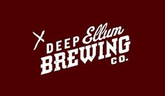Deep Ellum Brewing Co. #logotype #beer #brewing #deep #drawn #ellum #logo #hand