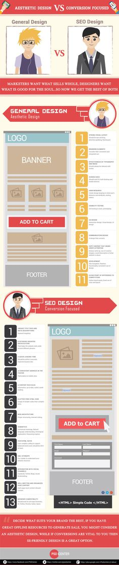 General Web Design VS SEO Design