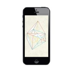 Image of Diamond on Paper | iPhone 5 & iPhone 4 Wallpaper #iphone #illustration #wallpaper #diamond