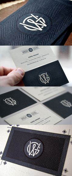Beautifully Textured Letterpress Business Card Design #business card #inspiration #graphic design