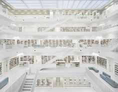 CJWHO ™ (eun young yi | new stuttgart library |...) #white #stuttgart #design #books #interiors #photography #architecture #stairs