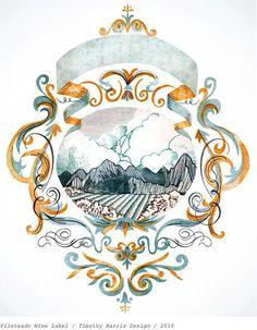 Packaging - www.gmillustration.com #packaging #badge #wine