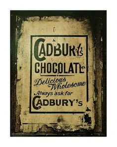 Read Between The Grinds #chocolate #cadbury #vintage #poster