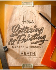 House Industries – Lettering & Printing