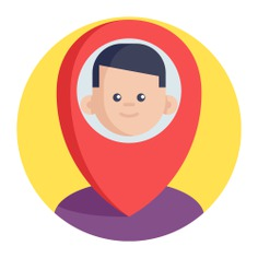 See more icon inspiration related to place, map, point, pin, person, maps and location, location pin, placeholder and location on Flaticon.