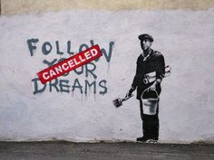 Merde! - time-to-pretendd: Banksy - Boston - Follow Your... #banksy #art #street