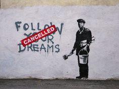 Merde! - time-to-pretendd: Banksy - Boston - Follow Your... #banksy #art #street