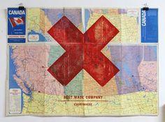 design work life » Axe Art #print #map #woodcut