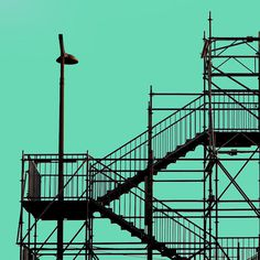 photo #lamp #color #solid #photography #stairs #green