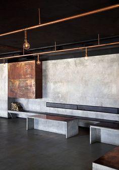 concrete & copper #concrete #copper #interior