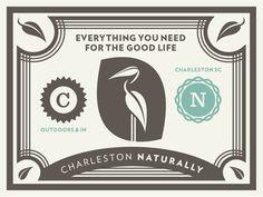 Charleston naturally gift certificate #jay fletcher #charleston #gift certificate #certificate #illustration